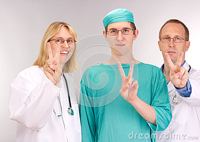 Medical doctor team