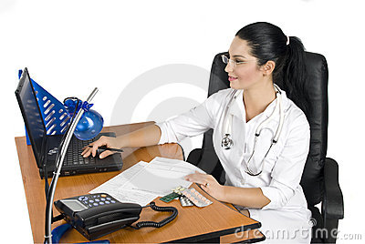 Medical-Doctor at work office
