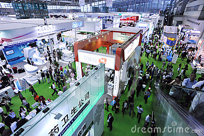 Medical equipment fair at china Editorial Photography