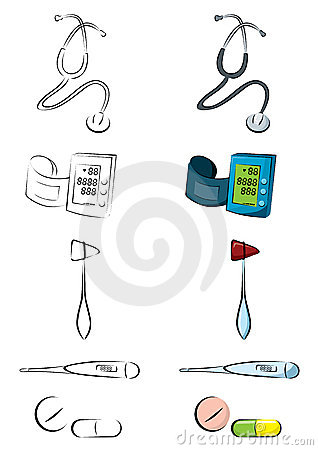 Medical equipments illustrations