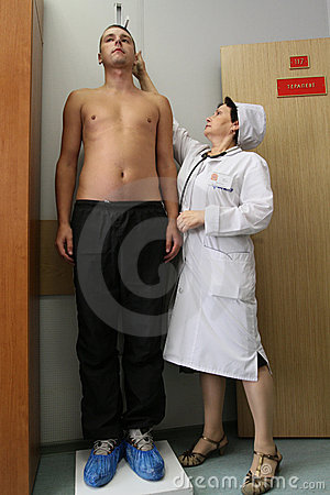 Medical examination at the recruitment center Editorial Photo