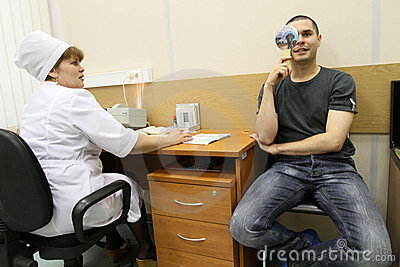 Medical examination at the recruitment center Editorial Image
