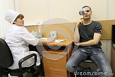 Medical examination at the recruitment center Editorial Stock Image