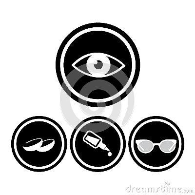 Medical eye icons