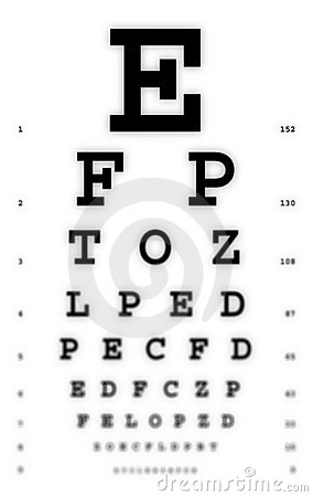 Free Medical - Fuzzy Sight Of Eye Chart Royalty Free Stock Images - 774379