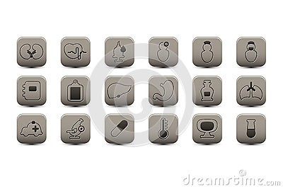Medical gray icons