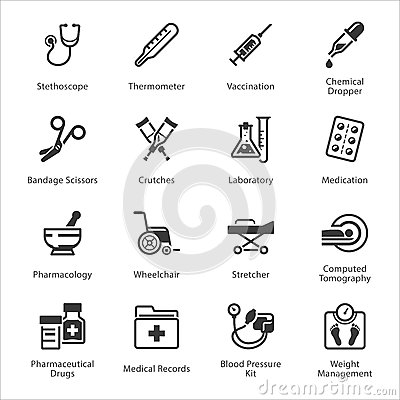 Free Medical & Health Care Icons Set 1 - Equipment & Supplies Royalty Free Stock Image - 53770826