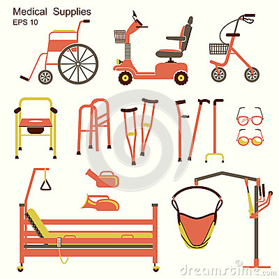 Free Medical Hospital Equipment For Disabled People Royalty Free Stock Photos - 41539368