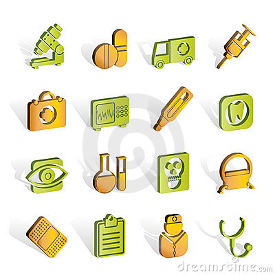 Medical, hospital and health care icons