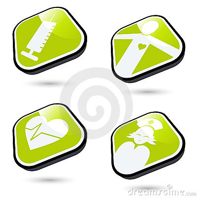 Free Medical Icon Buttons Stock Photos - 10950633