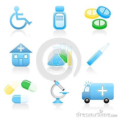 Free Medical Icon Set Royalty Free Stock Photography - 5378327