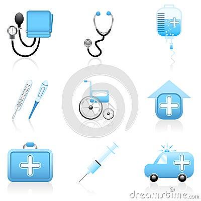 Free Medical Icon Set Stock Image - 5378331