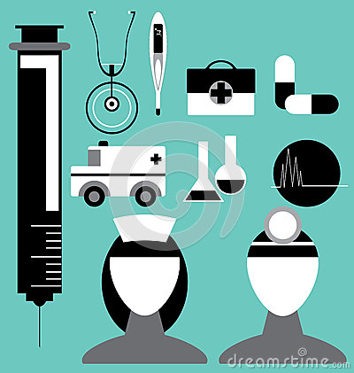 Medical Icon Set in Vector