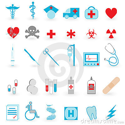 Free Medical Icon  Vector Set Royalty Free Stock Photos - 7550548