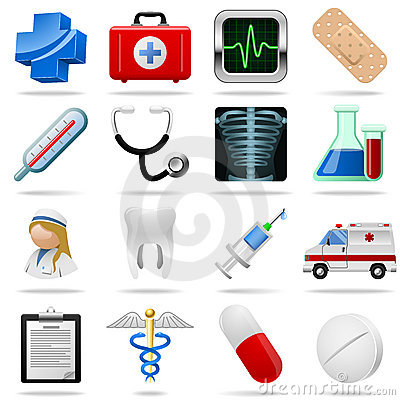 Free Medical Icons Stock Photography - 13522532