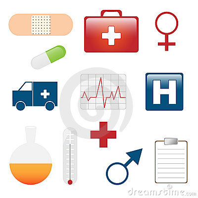 Medical icons Editorial Stock Image