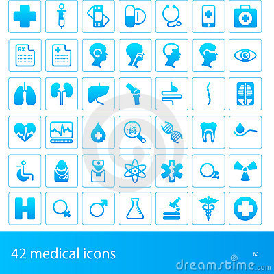 Free Medical Icons Stock Images - 22049284