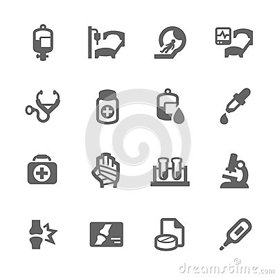 Free Medical Icons Royalty Free Stock Photography - 47209537