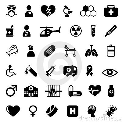 Free Medical Icons Set Royalty Free Stock Photos - 15915448