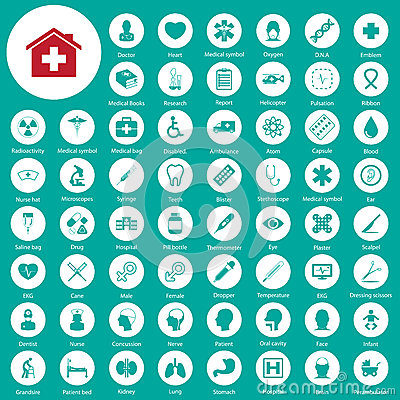 Free Medical Icons Set Stock Image - 43930711