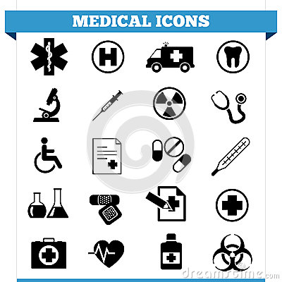 Medical Icons Vector Set