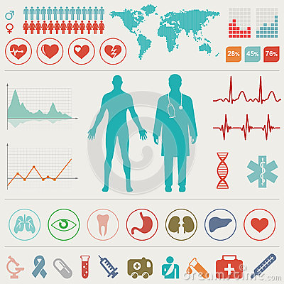Free Medical Infographic Set Royalty Free Stock Photos - 30269448