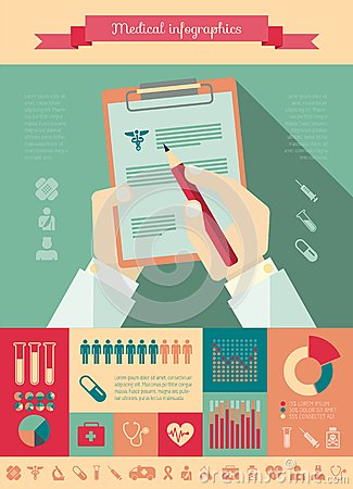 Free Medical Infographic Template. Stock Image - 36487441