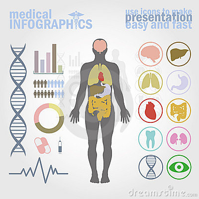 Free Medical Infographics Royalty Free Stock Photography - 19585227