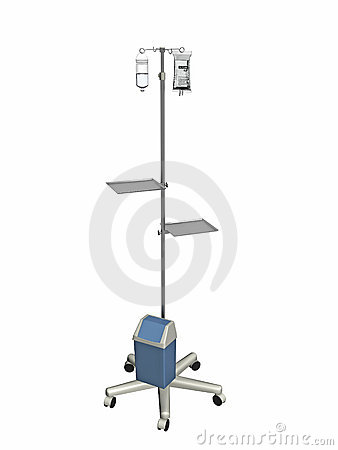Medical IV pole with bags