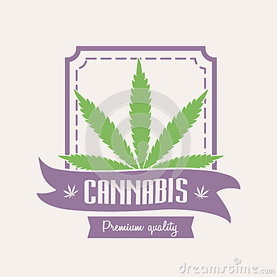 Free Medical Marijuana. Cannabis Logo Or Badge Template With Leaf Stock Images - 86693934