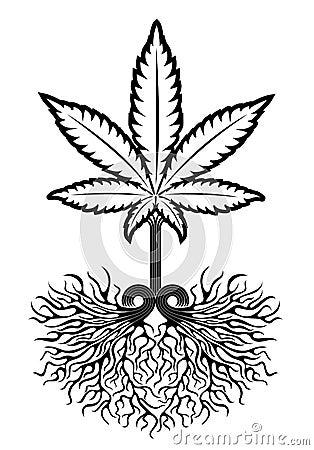 Medical Marijuana Leaf Symbol Stock Illustration Image