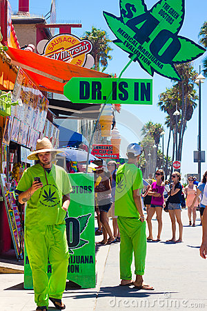 Medical Marijuana Venice Beach CA Editorial Photography
