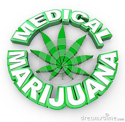 Free Medical Marijuana - Words And Leaf Icon Stock Photo - 17865360