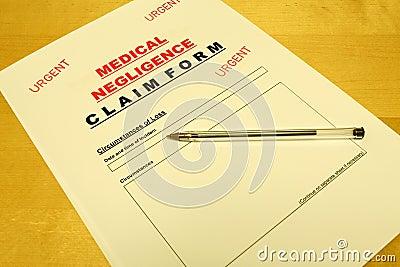 Medical Negligence Claim Form