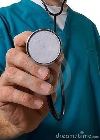 Free Medical Nurse Or Doctor With Stethoscope Stock Photo - 1979700