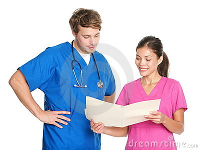 Medical nurses and doctors