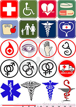 Medical objects, icons and logos