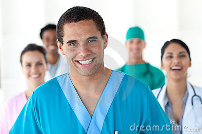 Medical people showing diversity