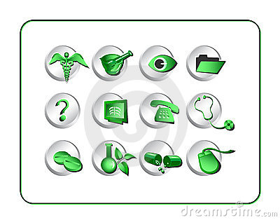 Medical & Pharmacy Icon Set -