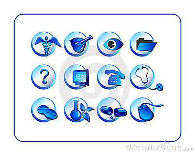 Medical & Pharmacy Icon Set, B