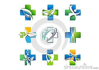 medical pharmacy logo health medicine icons symbol
