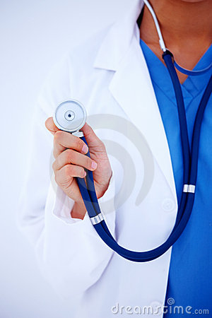 Medical - Physician holding stethoscope