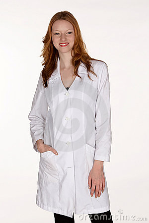 Medical Professional with Hand in Lab Coat Pocket