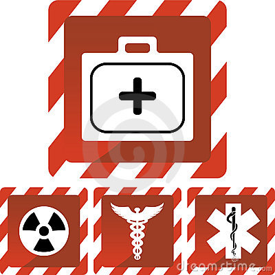 Free Medical Red Alert Icons Stock Photography - 9275052