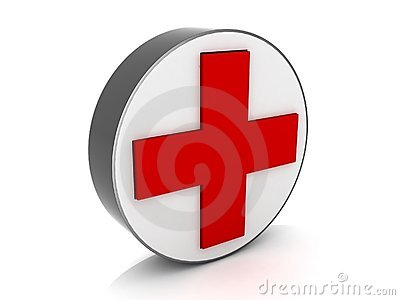 Medical red cross sign Editorial Stock Image
