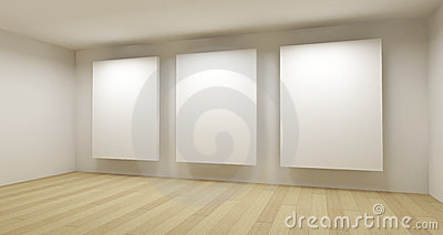 Medical room, 3d art with empty frames