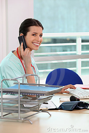 Free Medical Secretary Stock Image - 21257851