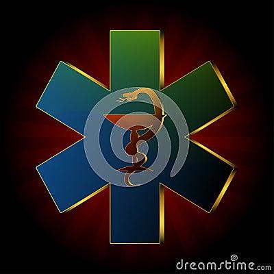Medical snake logo