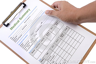 Medical summary form