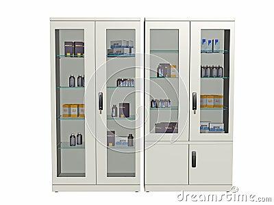 Medical supply cabinet